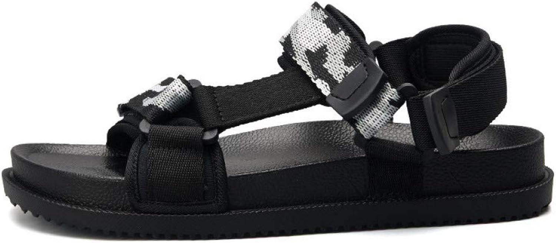 GJLIANGXIE Men'S Sandals Men'S Sandals Summer Roman Sandals Men'S Driving shoes Beach shoes Two Bars Everyday Wear Sandals Anti-Skid Drag