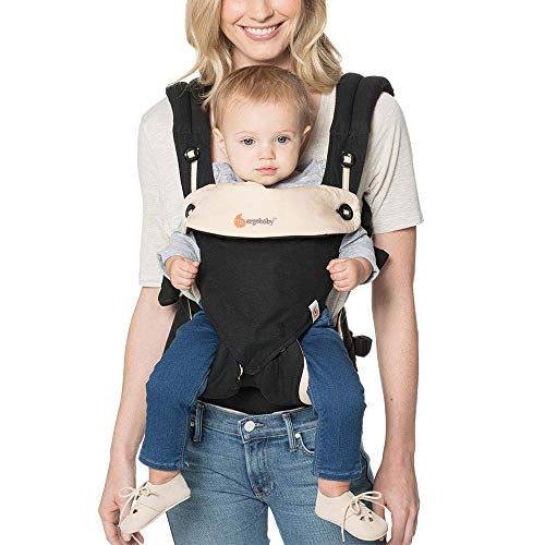 Ergobaby 360 All-Position Baby Carrier with Lumbar Support (12-45 Pounds), Black