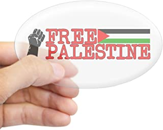 CafePress Free Palestine Oval Sticker Oval Bumper Sticker, Euro Oval Car Decal
