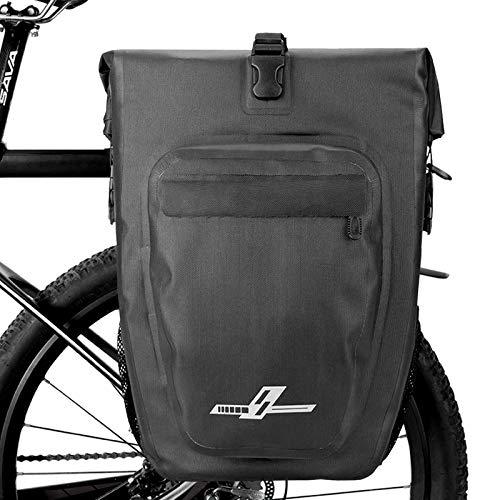Komake Bolsas Bicicletas Traseras, Impermeable Bolsa Alforja Trasera para Bicicleta 27L Pannier Bag para Asiento Trasero de Bicicleta