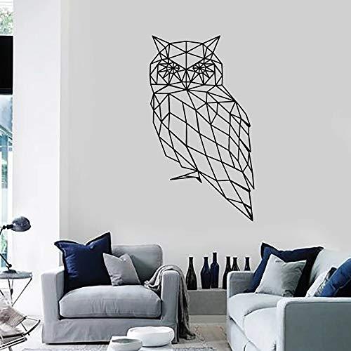 Tianpengyuanshuai muurstickers, geometrisch, vogel, vinyl, voor slaapkamer, woonkamer, werkkamer, decoratief