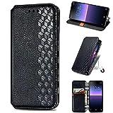 Para Nokia XR20 Funda de cuero premium Flip Folio a prueba de golpes cartera libro diseño teléfono Carcasas cierre magnético Kickstand protección completa cubierta para Nokia XR20 negro