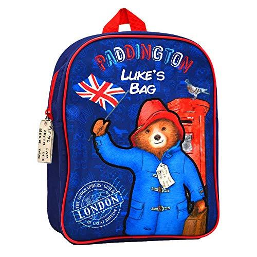 Personalised Paddington Bear Backpack for Kids/Back to School/Children Boys Rucksack Girls/Name/Durable/Toddler/31 x 25 x 9 Centimetre