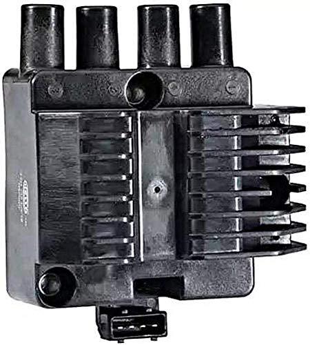 HELLA 5DA 193 175-651 Zündspule - 12V - 4-polig - Blockzündspule - geschraubt