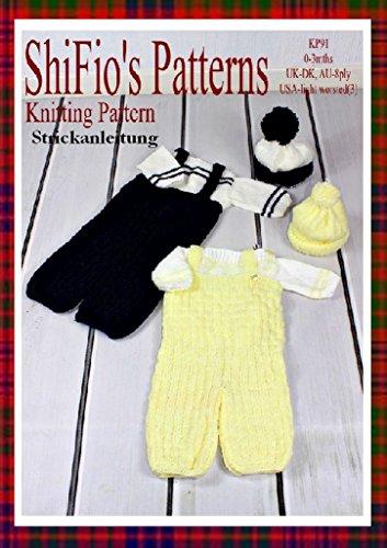 Strickanleitung - KP91 - Set für Babys: Latzhose, Mütze und Pullover - Deutsch