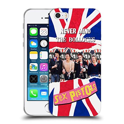 Head Case Designs Licenza Ufficiale Sex Pistols Foto di Gruppo Arte di Banda Cover in Morbido Gel Compatibile con Apple iPhone 5 / iPhone 5s / iPhone SE 2016