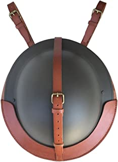 WW2 UK British Army Brodie MK2 Helmet Carrier-Genuine Brown Leather Cover