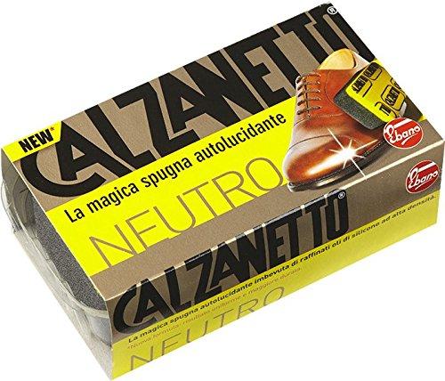 Calzanetto, Spugna, Autolucidante con Olii Raffinati Di Silicone, Pulisce, Lucida, Rende Idrorepellente, Colore Neutro
