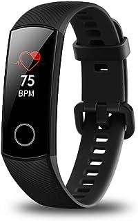 Huawei Honor Band 4 Monitor de frecuencia cardíaca inercial de 6 ejes Sensor de detección de desgaste de luz infrarroja Pantalla táctil en color AMOLED Botón de inicio Todo en uno Rastreador de actividad 5ATM impermeable