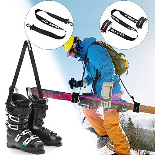 Sangle de Ski de Chaussure de Snowboard Sangle de Bâton de Ski Bandoulière Laisse d'Épaule de Patins à Glace Sangle d'Épaule Réglable Équipement de Ski Randonnée Montagne pour Hommes Femmes Enfants