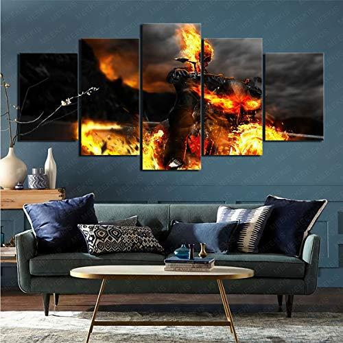 YLAXX Lienzo Arte De La Pared Suministros De Decoración Comics Ghost Rider Sala De Exposiciones Decoración De La Tienda Imágenes HD 100X50Cm Pintura Sin Marco