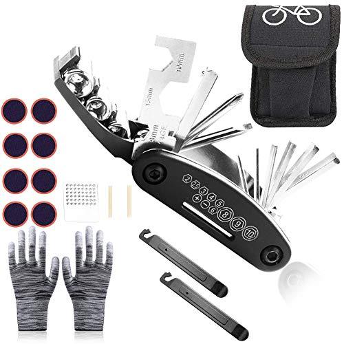 Sunshine smile fahrradwerkzeug Tool,Fahrrad-Multitool multifunktionswerkzeug,Fahrrad Werkzeug mit Tasche,Fahrrad Reparatur Set,fahrradwerkzeug für unterwegs,Bike Repair kit