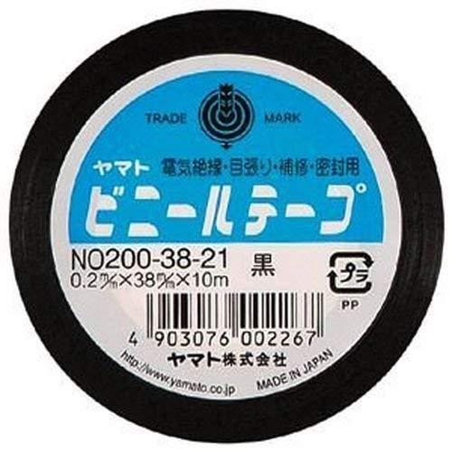 ヤマトビニールテープ (巾38mm)【黒】 NO200-3821