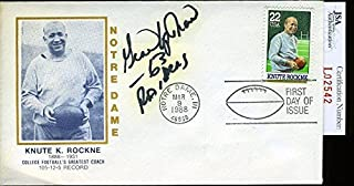 Gene Upshaw Authenticated Signed 1988 Knute Rockne Fdc Autograph - JSA Certified - NFL Cut Signatures