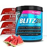 BLITZ3D Ultra Concentrated Pre Workout Powder for Men & Women, Premium, Effective, Affordable, L-Citrulline, NO3-T, Beta Alanine, DMAE, Caffeine, Yohimbine Superior Energy & Nitric Oxide Pumps + Focus
