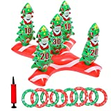 Dokeawo Christmas Games Inflatable Reindeer Antler Ring Toss Game Christmas Tree Ring Toss Games Kids Christmas Party Supplies Funny Gifts Stocking Stuffers