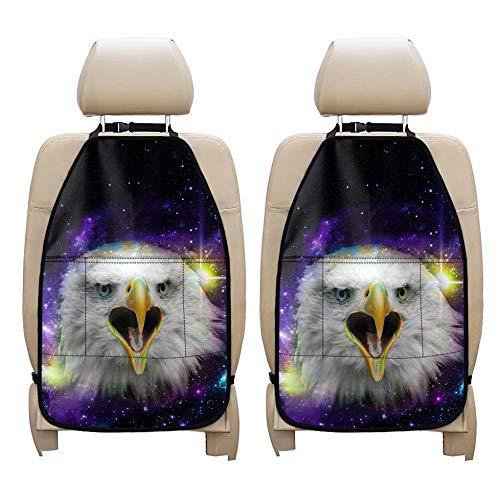 chaqlin - Juego de 2 alfombrillas universales para asiento trasero resistentes a las manchas, diseño de águila animal para niños y pequeños