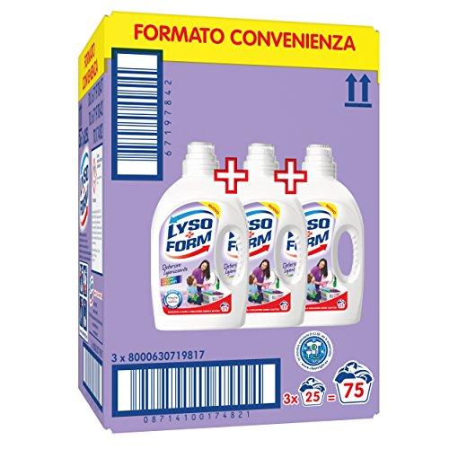 Lysoform Detersivo Igienizzante per Bucato, Colori Brillanti 25 Lavaggi x3