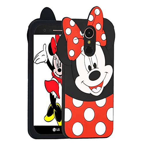 Case For LG Stylo 4/Stylos 4 Plus/Q Stylus Cases Cute Minnie 3D Cartoon Soft Silicone Animal Rubber Shockproof Anti-bump Protector Lovely Kids Girls Gifts Skin Covers For LG Stylo 4/Plus+/Q Stylus