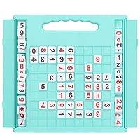 数独ゲームボード数独パズルボード親子プラスチック数独ボードキッズ学生インタラクティブデスクトップゲームおもちゃ(緑)