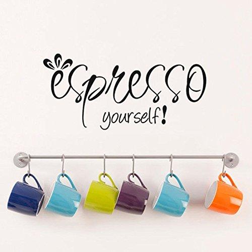 kleine prins muurstickers tottenham, espresso eigen koffie muurtattoo keuken quote woondecoratie muurschildering behang decoratie wal57x28cm