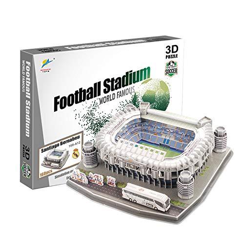 3D PUZZLE Stadium Puzzles 3D Estadio Fútbol DIY Puzzle Sports Stadium 3D Model Puzzle Unisex.Regalos Creativos para Niños, Jóvenes Y Adultos,Estadio Santiago Bernabéu(Spain)