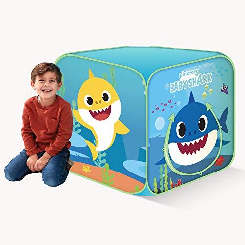 Basic Fun Playhut Pinkfong Baby Shark Classic Cube Pop-Up Play Tent Preschool Gift for Kids