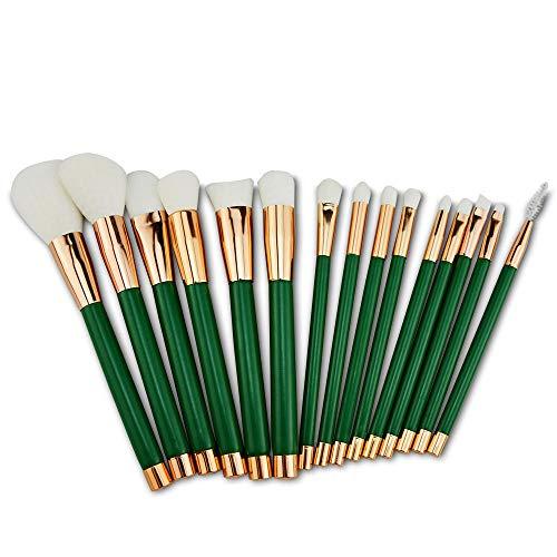 MPKHNM Fifteen Beauty Tools Makeup Brush Set Brush 15 Makeup Brush Green