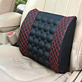 LuvBells™ Car Seat Comfort Cushion with Electric Vibration Motor Massage (Red Line)