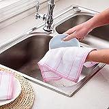 Microfibra Toalla de cocina para el hogar Set de toallas de limpieza Paño de toalla de trapo para lavar platos