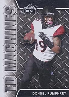 Donnel Pumphrey Football Card (San Diego State, Philadelphia Eagles) 2017 Leaf Draft TD Machines #TD09 Rookie