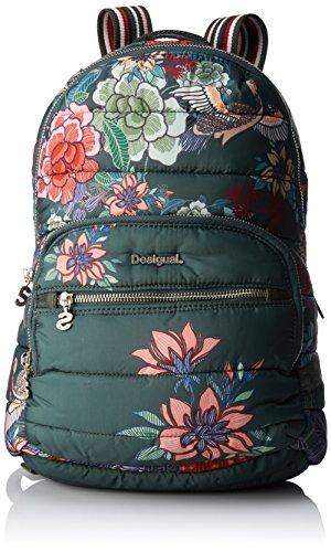 Desigual Bols_kurosawa Lima, Bolsos mochila Mujer, Verde (Caqui), 11x34x25 cm (B x...