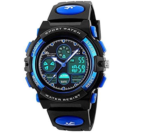 Hiwatch Sportuhren für Kinder wasserdichte Digital-Armbanduhr (A)