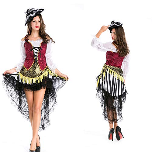WANLN Cosplay Uniforme de Halloween Disfraz de Fiesta Sexy de Halloween para Fiesta Sexy,Rojo,OneSize
