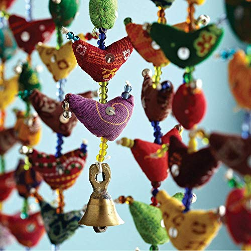 Paper High 20-Bird Bell Tota Traditional Indian Hanging Decoration, Bedroom Decorations, Home Decor