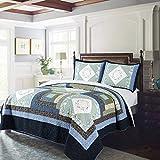 KASENTEX Luxurious Soft Royal Blue Floral – Coastal Embroidery...