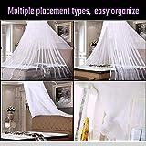 Moskitonetz Doppelbett Einzelbett Reise Mückennetz Bett Groß Moskitonetz Schützt vor Insekten und Mücken, für Camping und Zuhause - 2
