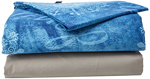 Lois Jeans beddengoedset, 4-delig, 50% katoen, 50% polyester, grijs voor bed 180 x 190/200