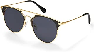 MESTIGE Women's Sunglasses Round Giza in Golden Black Gold & Black
