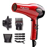 KISS 1875W Ceramic Tourmaline Hair Dryer with 3 Attachments & 4 Clips