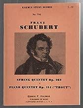 Schubert: String Quintet, Op. 163/ Piano Quintet, Op. 114