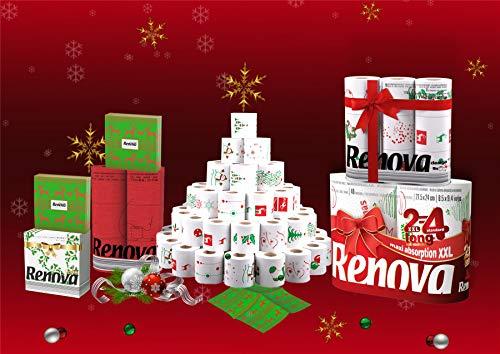 Renova - Juego de cestas de papel de cocina y servilletas para regalos navideños