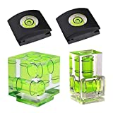 FOTYRIG Camera Level Hot Shoe Bubble Level Hot Shoe Cover Combo Pack 3 Axis 2 Axis 1Axis for Canon and Nikon, Olympus, Pentax Digital and Film Cameras-4 Packs