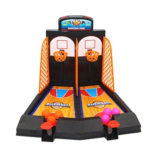 YeahiBaby Juego de máquina de Baloncesto Juego de Mesa de Tiro para niños Juguetes educativos para niños Primeros Juguetes de Escritorio