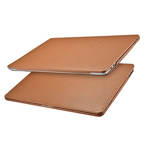 ICARER MacBook Pro 13 Hülle Lederhülle, Ultra Slim Hochwertige Ledertasche Vintage Antik Handytasche Leder Hülle Case Cover für Apple MacBook Pro 13 Zoll Retina mit/ohne Touch Bar Touch ID (Braun)