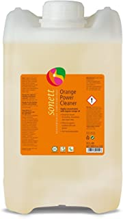 Sonett Organic Orange Universal Power Cleaner 10L/ 2.6 Gallon -with Orange Oil from Organic Cultivation-Pure Herbal Intensive Cleaner-Excellent for Cleaning Floors & Windows -pH Value: 7.5-8.5