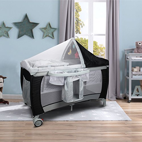 Costway Infant Travel Cot Bed Baby Play Pen Child Bassinet Playpen Entryway...