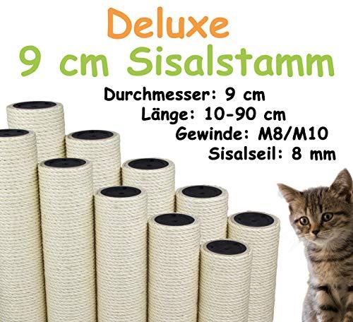 Kratzbaumland 9 cm Deluxe-Sisalstamm mit 8 mm Sisalseil (Länge: 10-90 cm; Gewinde: M8-M10) Stammlänge - 10 cm, Gewinde - 10 mm -M10-