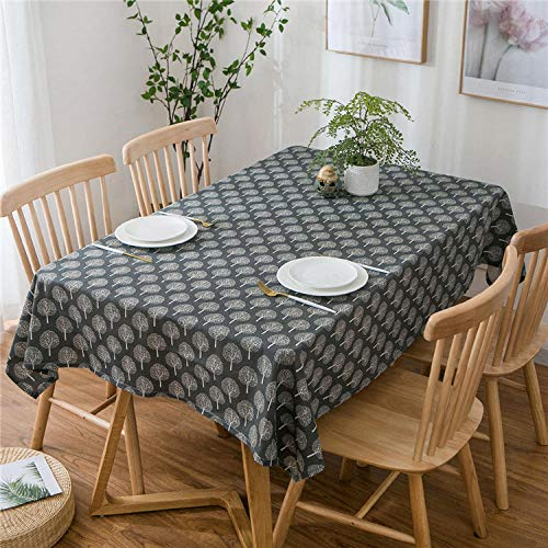 GTWOZNB Easy Wipe Clean | Textile Backed Plastic Tablecloth Simple and fresh-22_130*180cm