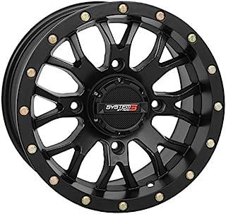 System 3 ST-3 14x7 ATV/UTV Wheel - Matte Black (4/137) 5+2 [19-0057]